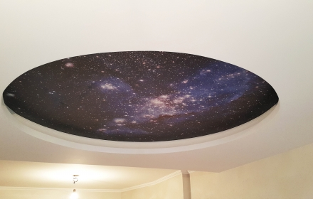Звездное небо с фото печатью
