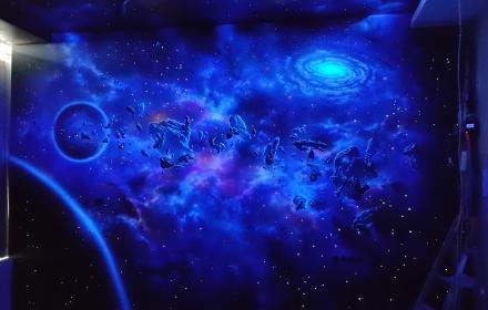 Ультрафиолетовая роспись, звездное небо и лампы уф