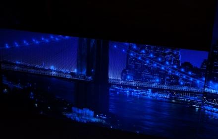 Ночной город УФ лампы Бруклин