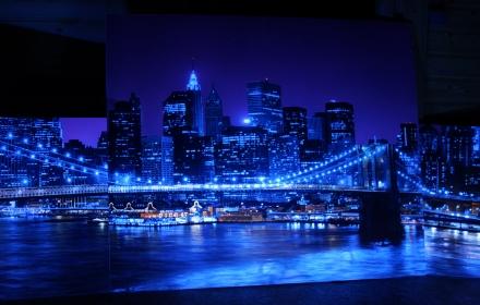 Ночной город УФ Бруклин