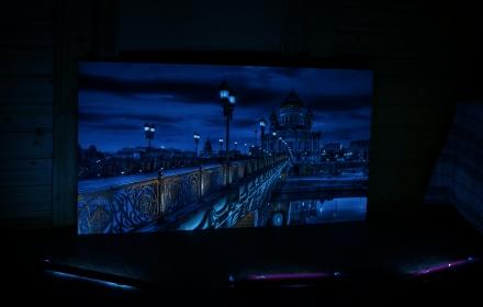 Ночной город УФ лампы Москва
