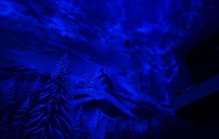 Флуоресцентная роспись стен