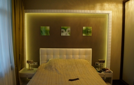 Декоративное освещение спальня