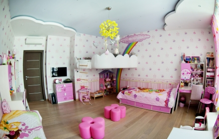 Дизайн освещения детской комнаты потолок