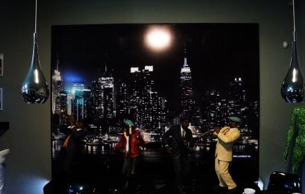Световое панно ночной город