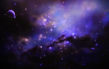 Натяжной потолок звездное небо с аэрографией
