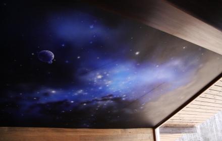 Потолок звездное небо с художественной росписью