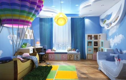 Вариант освещения детской комнаты
