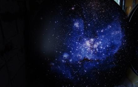Потолок звездное небо для дилера фото печать