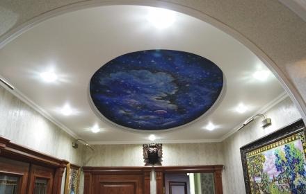 Потолок звездное небо аэрография космос