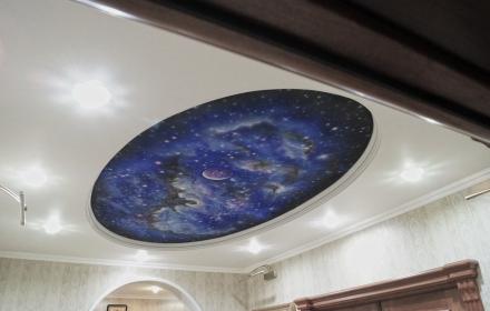 Потолок звездное небо аэрография