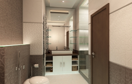 Декоративное освещение интерьера ванная комната